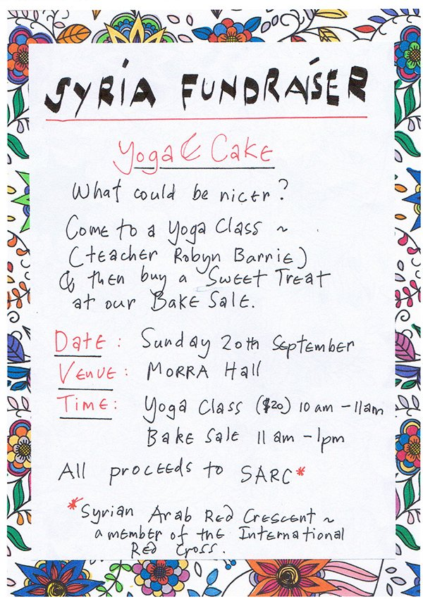 Fundraiser For Syria with Robyn Barrie